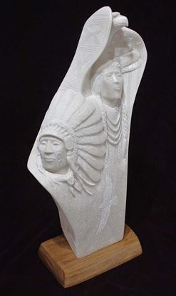 Picture of Navajo alabaster sculpture Ray Pettigrew 900