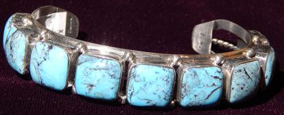 Turquoise row bracelet 12a