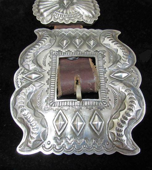 Dead pawn sterling silver concho belt 1