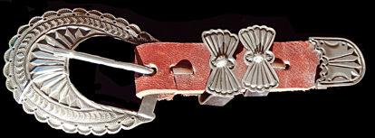 Navajo Silver Ranger Belt Buckle 1