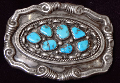 Navajo Silver Belt Buckle A